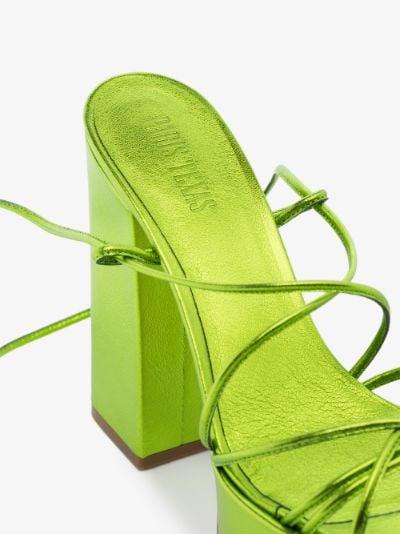 green 130 malena platform sandals