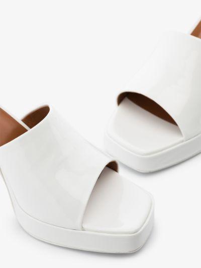 white milena 80 platform leather sandals