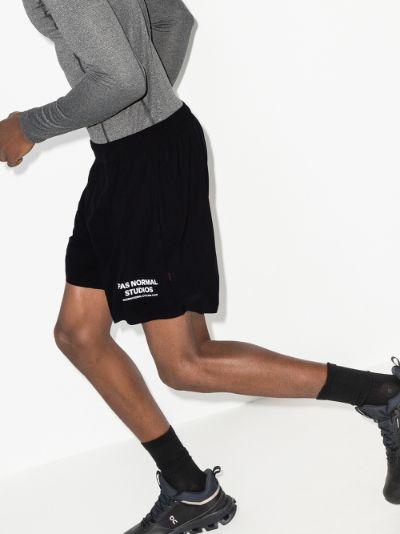 black Balance shorts
