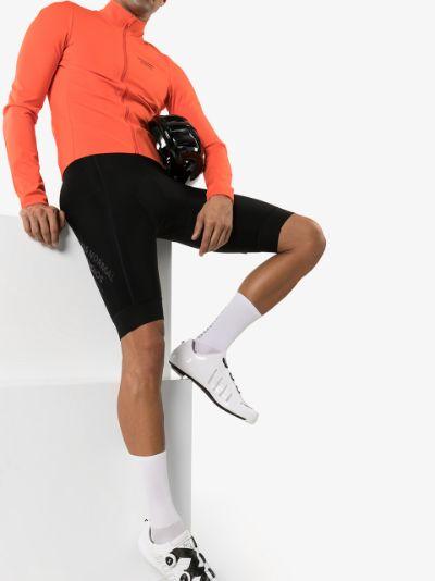 black control fleece bib shorts