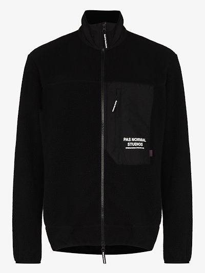 black Off Race fleece jacket
