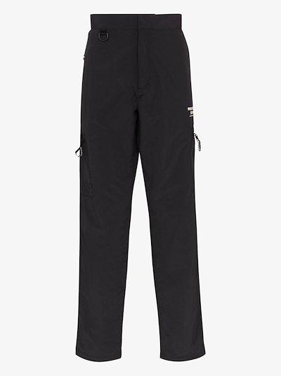 black Off Race Shield trousers
