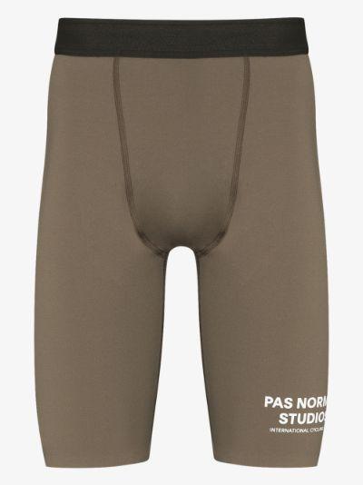 brown Balance tight shorts