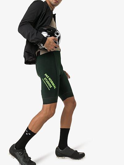 green Control Fleece Cycling Bib
