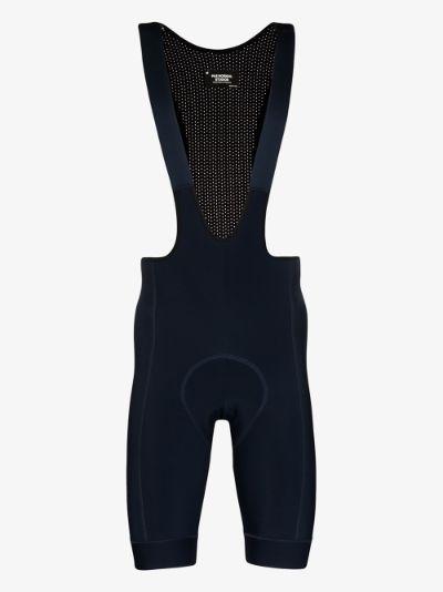 navy Control fleece bib shorts