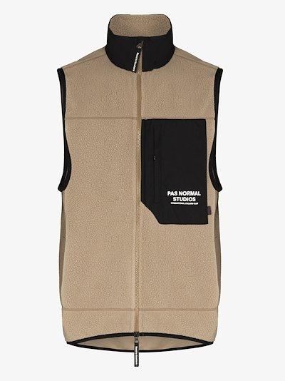 neutral Off Race fleece gilet jacket
