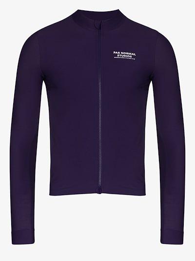 purple logo print jersey top