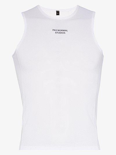 white control heavy sleeveless base layer