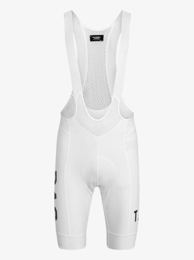 White T.K.O. Cycling Bib Shorts