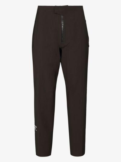 X Descente Allterrain green straight leg trousers