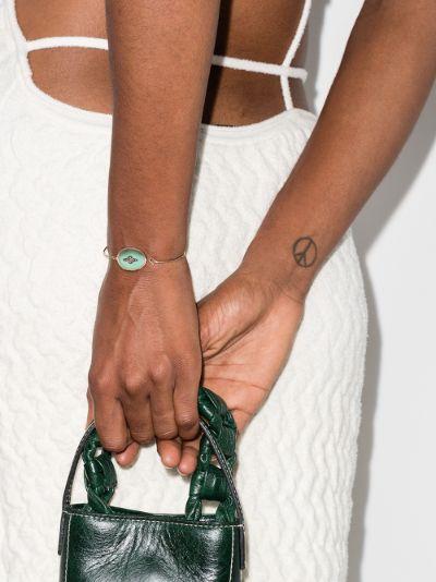 9K rose gold Garance No. 2 Turquoise diamond bracelet