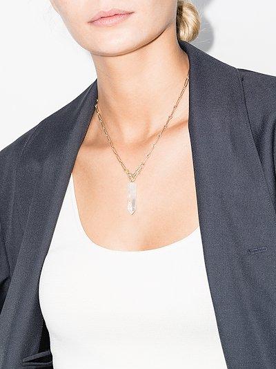 9K yellow gold Moon No. 2 diamond necklace