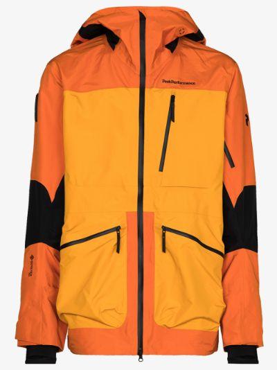 orange Vertical Pro hooded performance jacket