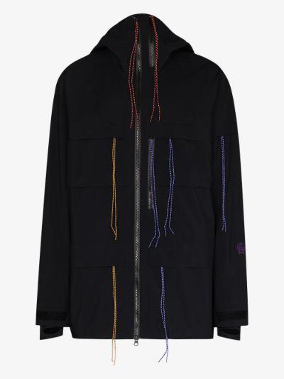 X Ben Gorham black shell ski jacket