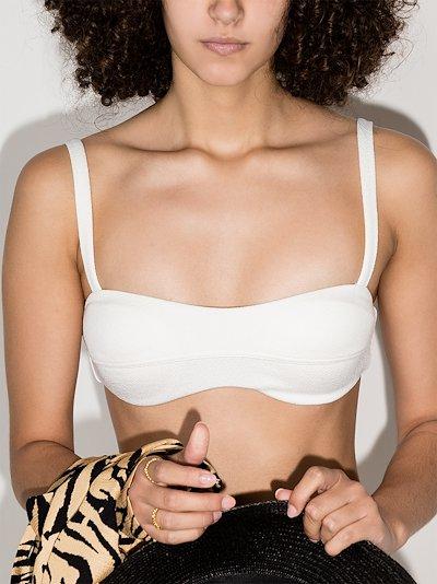contoured crop bikini top