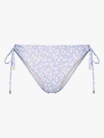 Lavender Fleur side tie bikini bottoms