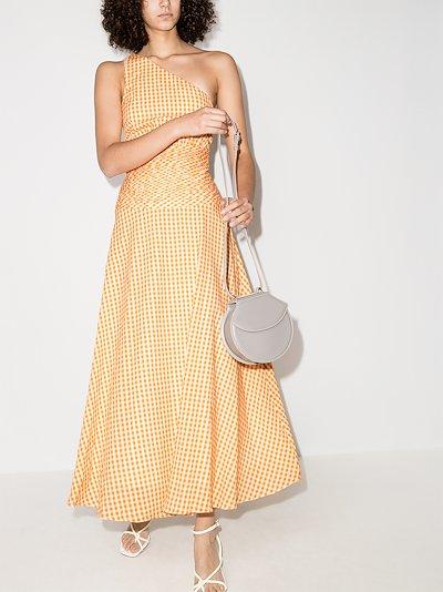 Mandarin one shoulder midi dress