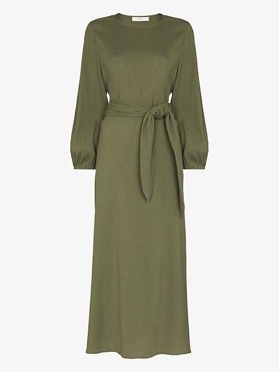 Pear organic cotton midi tunic dress