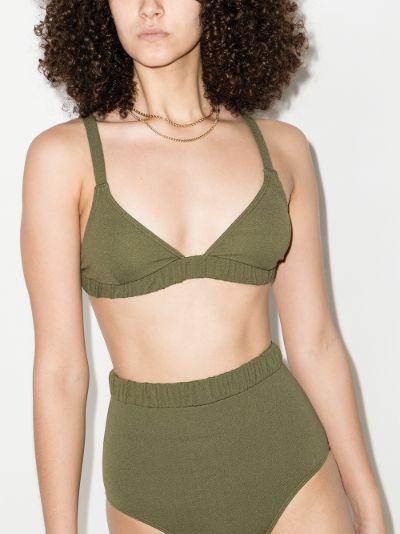 Pear ruched triangle bikini top