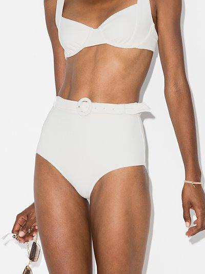 Petunia belted bikini bottoms