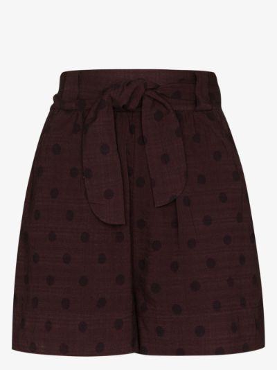 Raisin organic cotton belted shorts