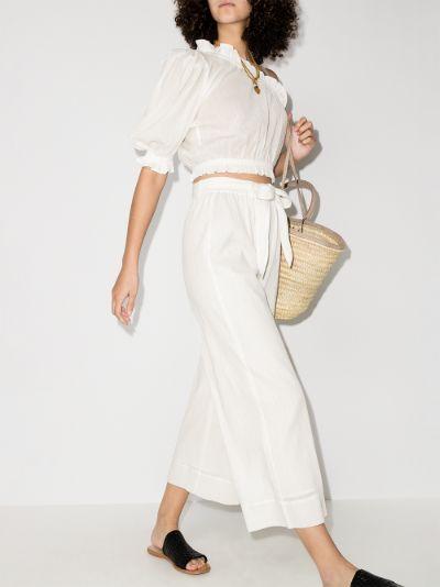 vacation organic cotton culottes