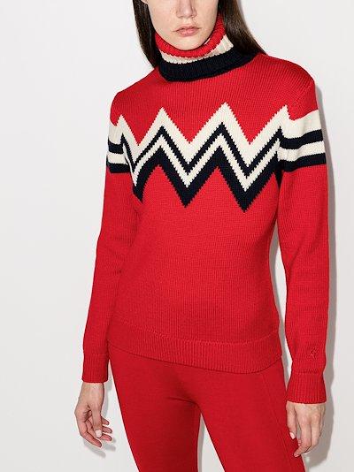 Alpine zigzag turtleneck sweater