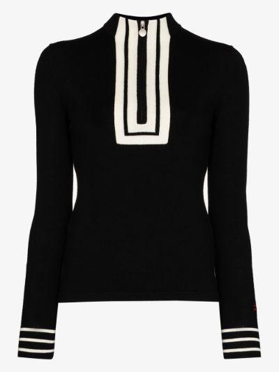 Attu zip-up merino wool sweater