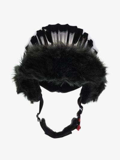 Black Polar Bear ski helmet