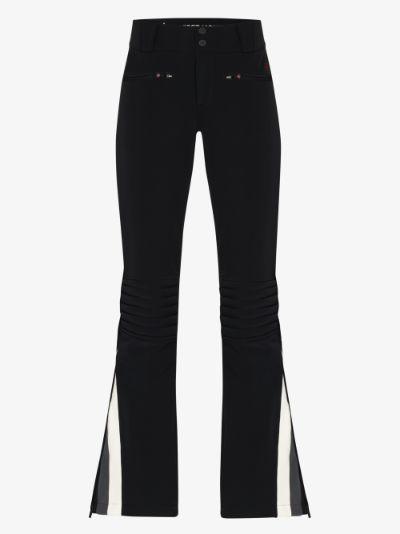 Chevron Flare ski trousers