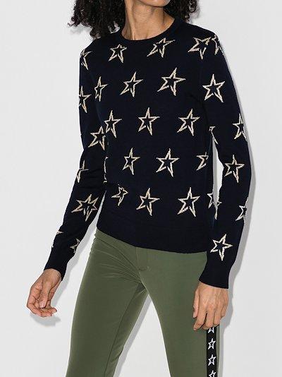Floro star merino wool sweater