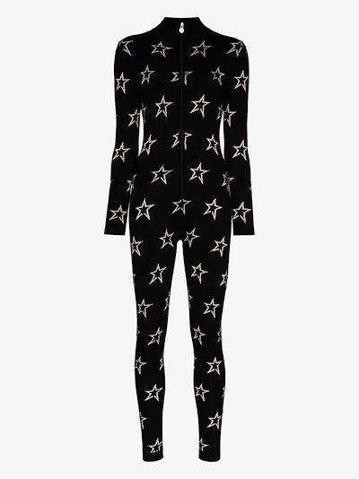 Floro star print ski suit