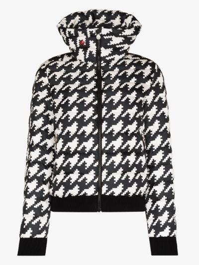 Queenie houndstooth ski jacket
