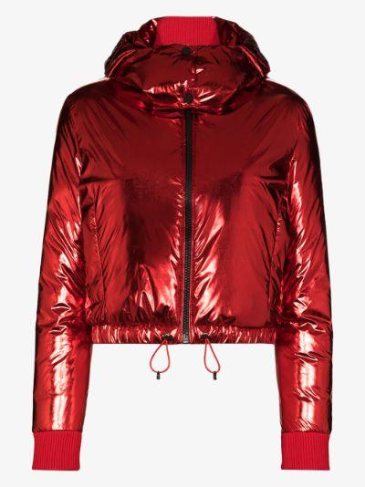 star print padded ski jacket
