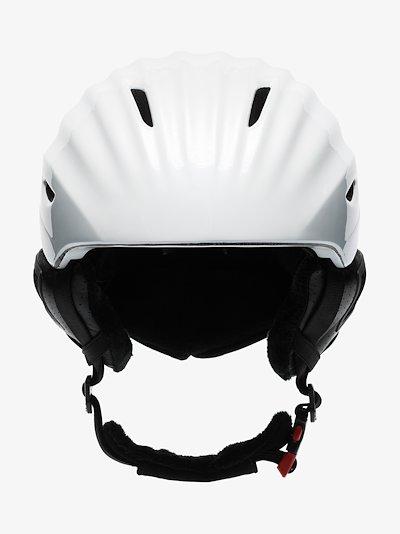 white Mountain Mission star print ski helmet