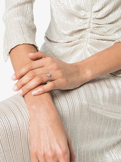 18K white gold Imagine Pear sapphire cluster ring