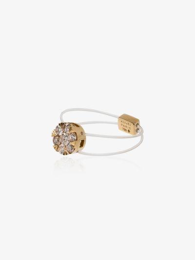 18K yellow gold Imagine diamond cluster ring