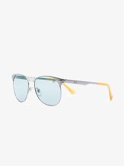 X Stone Island silver tone round sunglasses