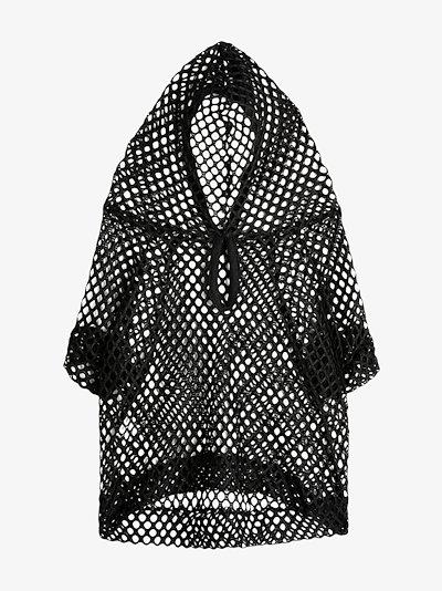 mesh dog hoodie