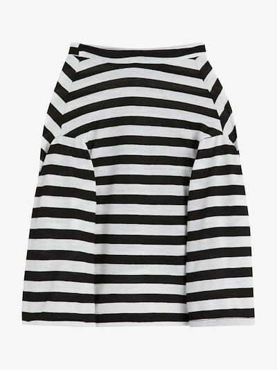stripe long sleeve dog T-shirt