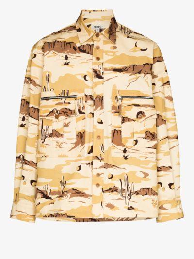 desert camo print shirt jacket