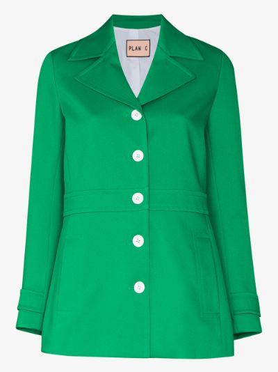 contrast button blazer