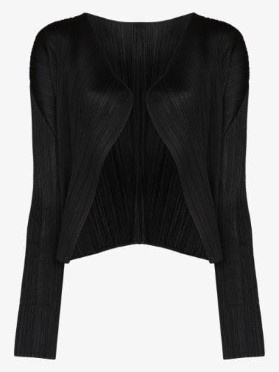 basic plissé cardigan