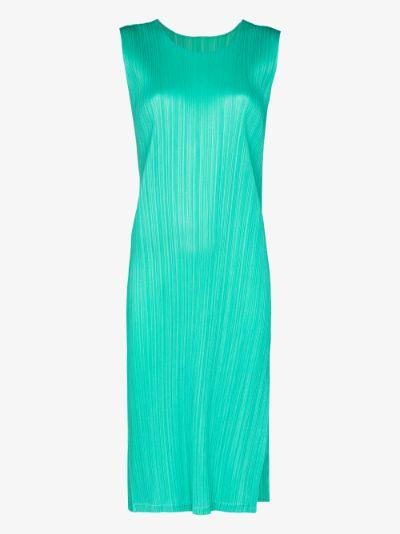 Basic plissé midi dress