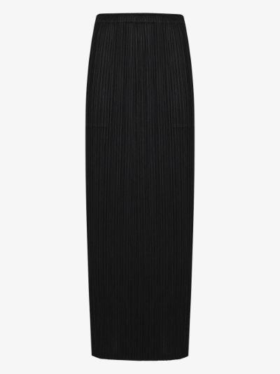 Basic plissé midi skirt