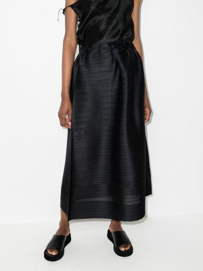 Cantabile Plissé Midi Skirt