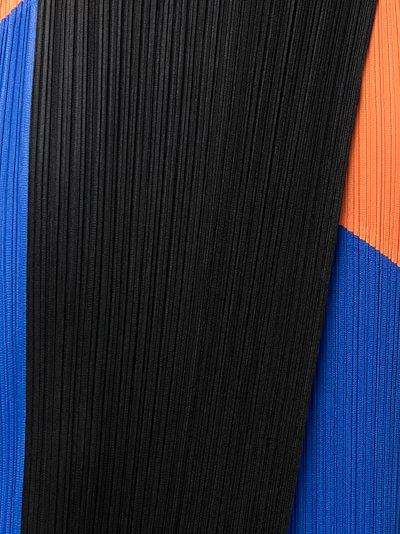 Collage Plissé Midi Skirt