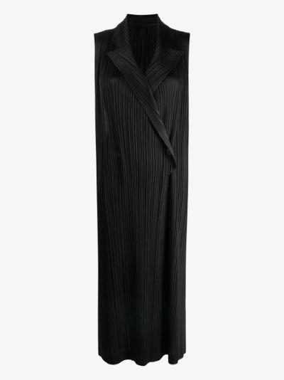 Mannish longline plissé waistcoat