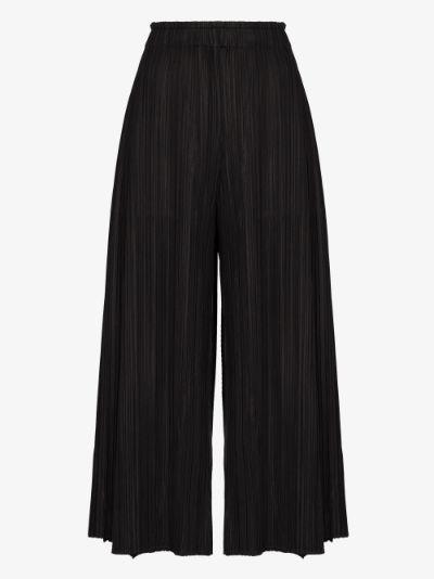 Mellow plissé wide leg trousers