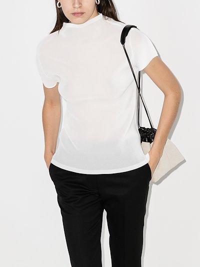 Mist Basics high neck plissé top